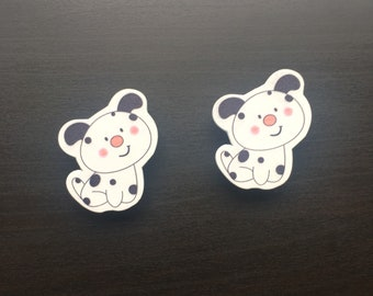 Wooden Baby Clothes Pegs Cute Puppy Dog
