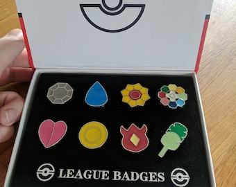 Needle Minder | Pokemon Gym Badge Set
