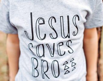 Jesus Saves Bro - Birthday Gift - Jesus Shirt - Christian Shirt - christian Clothing - Kids Shirt - Boys Christian Shirt - Toddler Shirt