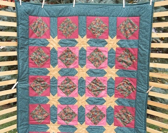 Stars and Squares Lap Quilt