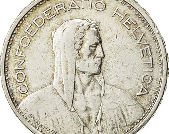 switzerland 5 francs 1932 bern vf(20-25) silver km40