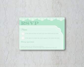 Classic Lace Wedding RSVP