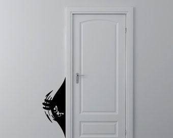 Sneaky Monster - Vinyl Wall Decal