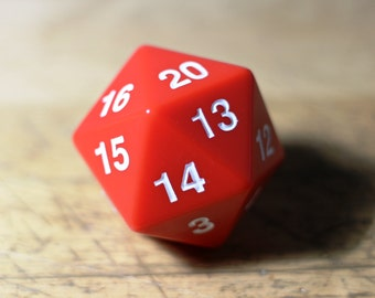 "Magnetic Dice of Curiously Strong Attraction - 55MM D20 Spindown with 3/4"" x 1"" MAGNET!"