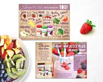 Juice Plus Juice + Promotional Flyer Leaflet Advertising Healthy Living **DIGITAL Download ONLY**