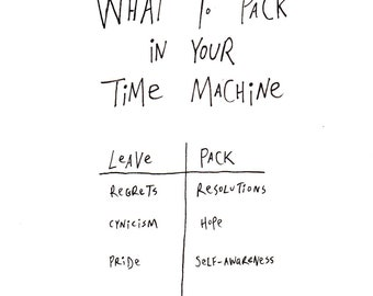 What to Pack in your Time Machine -- Downloadable/Printable Art