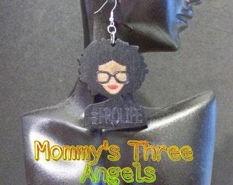 Sassy Afro Girl/ Nerdy Afro Girl/ #FroLife  Earrings MADE TO ORDER