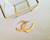 Gypsy Earrings. Gold Hoop...