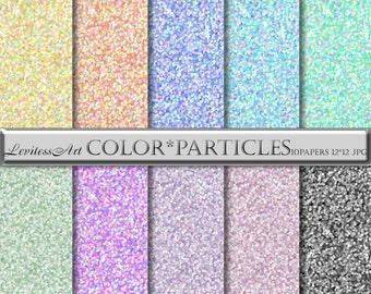 Pastel Digital Papers - Color Digital Paper Dots Digital Paper- Pastel Backgrounds - Speckled Digital paper - Pastel Patterns Digital Pack