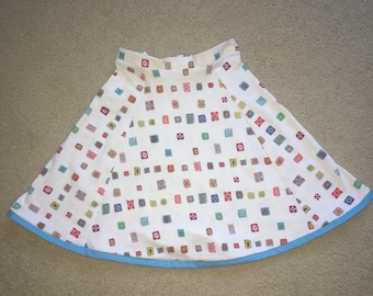 Girls size 6 stretchy cotten flare skirt