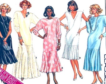 Dropped Waist dress 90s Classic Evening wear Butterick 3579  Mother of the Bride Wedding gown 20s style UNCUT bust 38