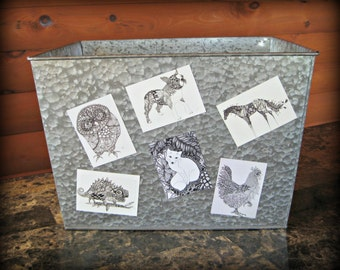 Zentangle Animal Magnets