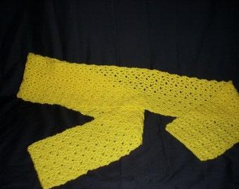 FREE SHIPPING Yellow Scarf, Winter Scarf, Neckwear