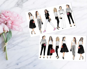 Girls Black & White  - Decorative Set