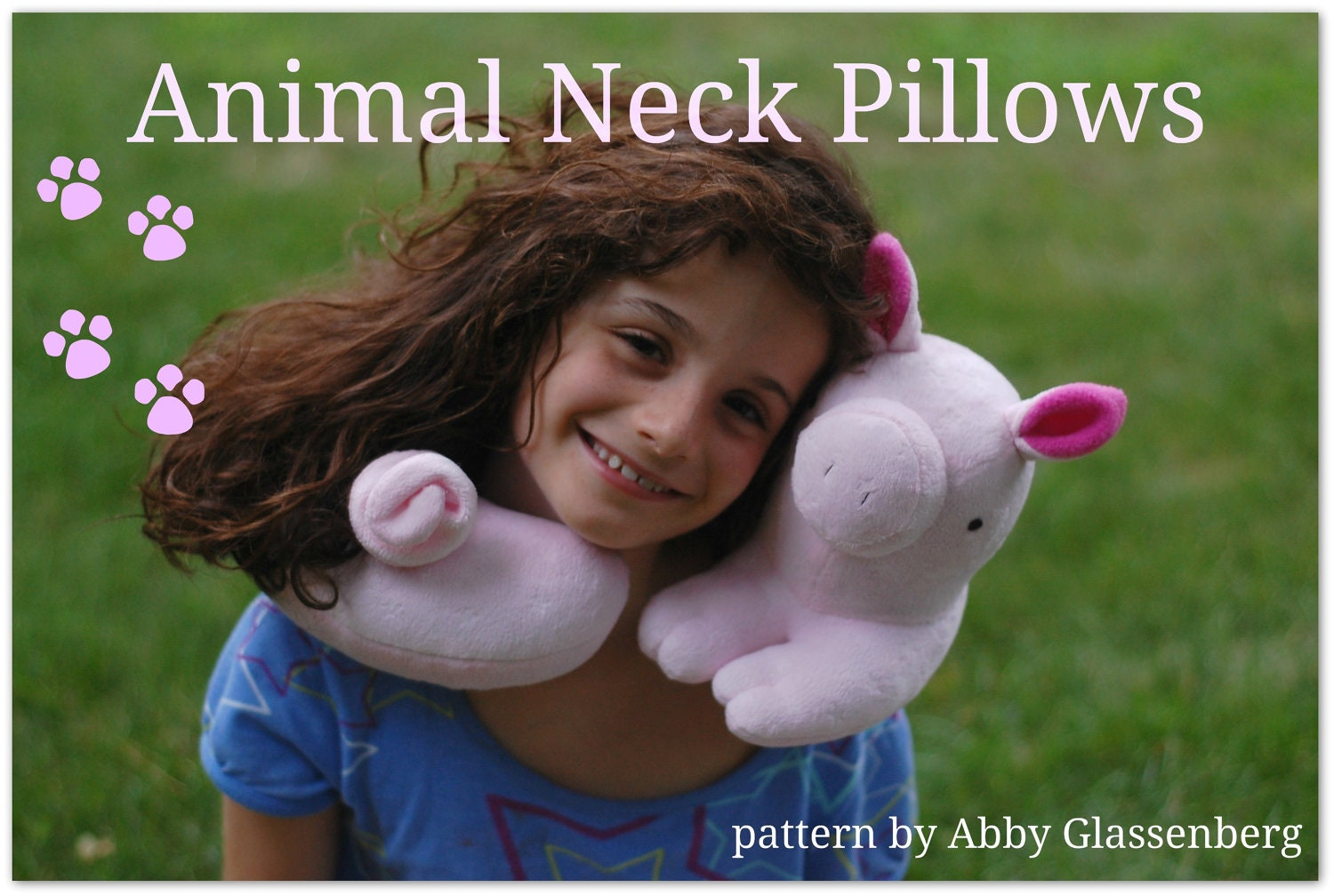 Animal Neck Pillows PDF Sewing Pattern - Easy to Sew Gift for a ...