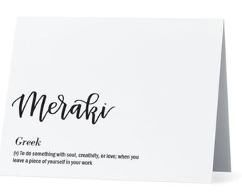 Greece card etsy meraki greek greeting card inside congrats job well done foreign language calligraphy card white card and envelope m4hsunfo