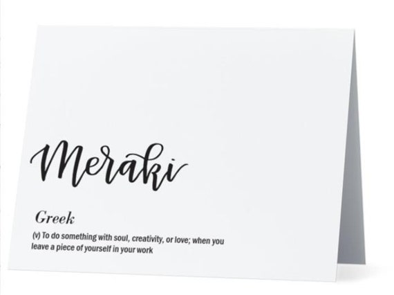 Meraki greek greeting card inside congratsjob well done m4hsunfo Choice Image