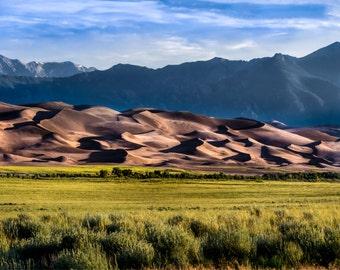 Landscape Photography - Great Sand Dunes National Park | Colorado  | Color OR Black & White | Canvas Photography