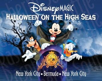 Disney Magic New York to Bermuda Halloween on the High Seas Cruise Magnet 5x7