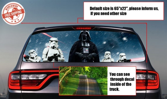 017 Star Wars Vader Rear Window Tint Perforated Decals