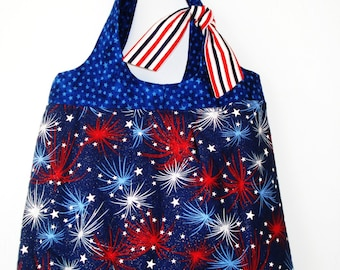 Red, White and Blue Cotton Bag