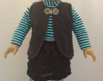 4 Piece Skirt Outfit to fit an 18 inch Doll Such as the American Girl and Other Similar Dolls