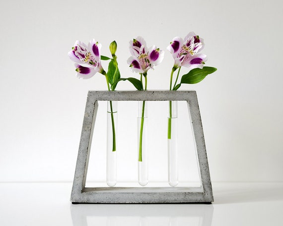 Beton Vase concrete vase glass test beton vase flower holder