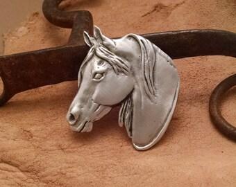 Morgan Horse Pin / Brooch . Horse Jewelry