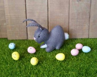 100% Wool Felt Kawaii Easter Bunny Rabbit