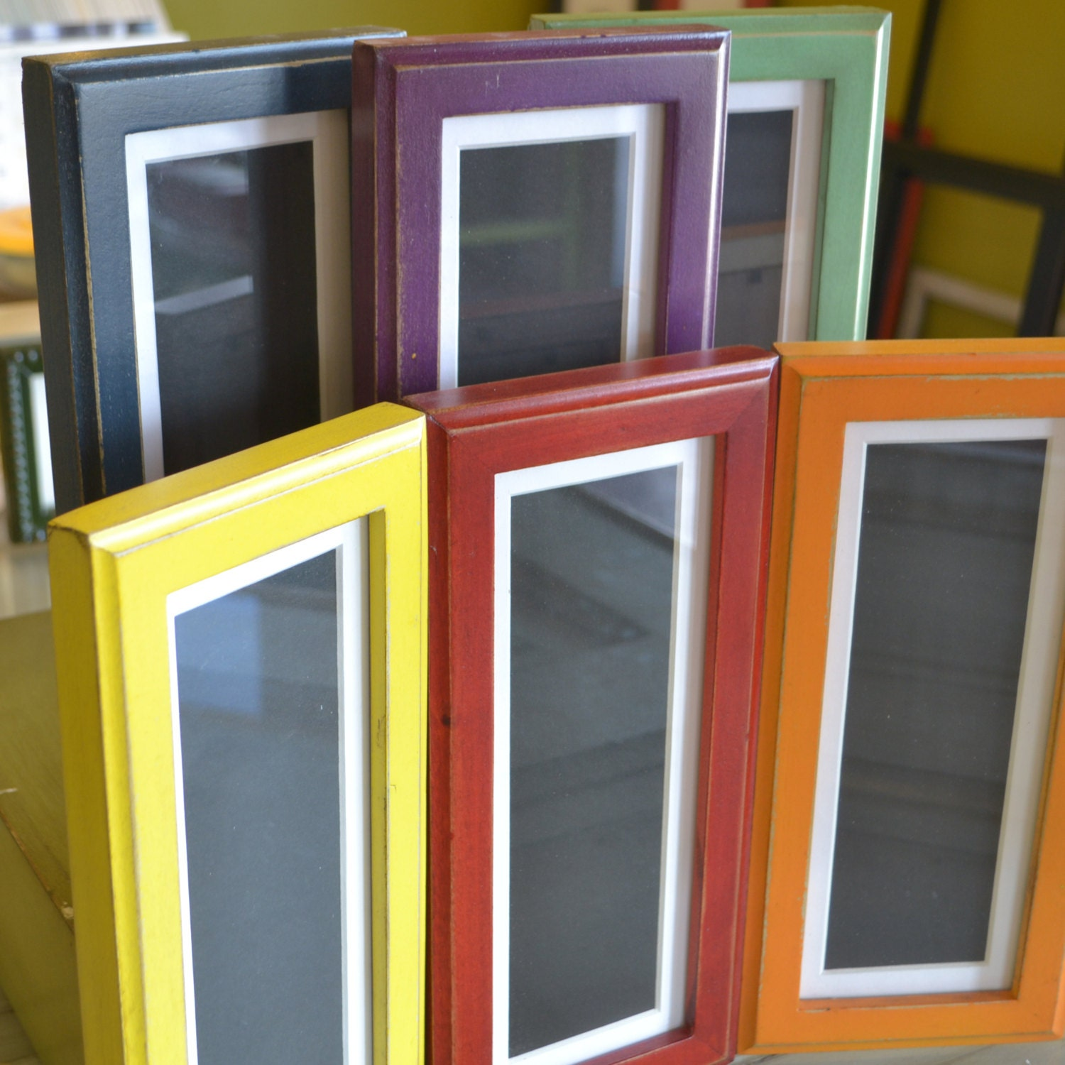4x10 Picture Frame for Photo Booth Strip in 1x1 Outside Cove Style ...
