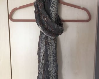 Snake Patterned Scarf