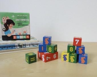 Vintage Educational Arithmetic Math Blocks
