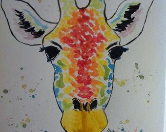 Rainbow giraffe head