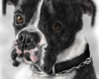 Custom Dog Portrait, pet portrait, custom portrait, dog lover, dog art, pet memorial, dog memorial, artwork, wall art, art print