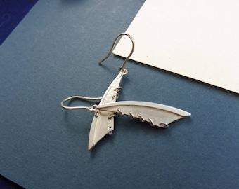 "Dragonfly Earrings of Sterling Silver - ""Tween Rebellion"""