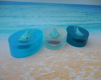 Shark Soaps - Great White Shark - Ocean Soap - Shark Pool Party - Pool Party Favors - Summer Birthday Party Favors - Kids Fish Soap - 5 pk