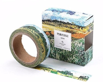 Van Gogh art inspired washi tape wheat field adhesive tape