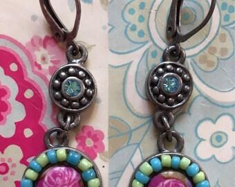 Beautiful earrings made of steel 90's