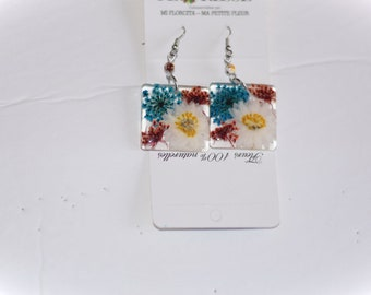 Crochet large flowers earrings