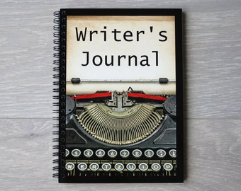 Writer's Journal, A5 Wire Bound, Custom Designed Pages for Story Planning and Literary Ideas, Gift Idea for Story Planning, Gift for Writer