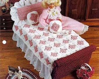 Grandma's Feather Bed / Annies Fashion doll Crochet Pattern Club FCC13-03