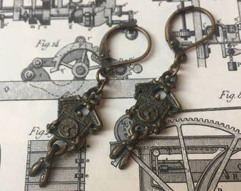 Cuckoo Clock Charm Earrings