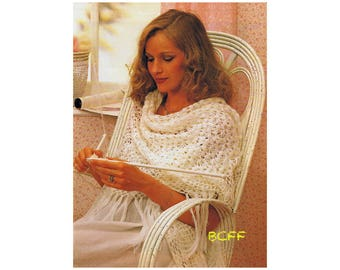 Three Cornered Shawls Crochet Pattern Womens Shawl Digital Crochet Pattern Instant Download