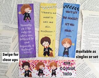 Golden Trio Bookmarks