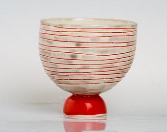Carusa - Porcelain bowl, unique, handmade, OOAK