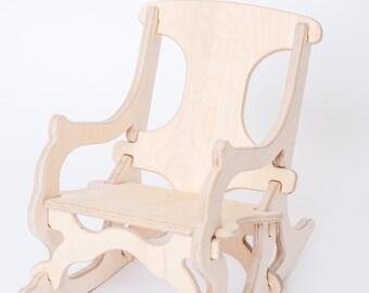 Childu0027s Rocking Chair, Interlocking Puzzle Chair For Kids, Toddleru0027s Rocker  By MUDJIT, Wooden