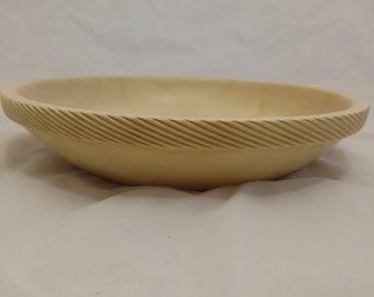 Spiral Edged Silver Maple Bowl #232