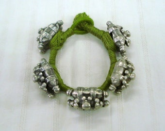 old silver cuff bracelet bangle tribal bellydance vintage antique jewelry