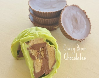 Reese's Peanut Butter Cups Brains (6) - Birthday - Wedding - Zombie - Chocolate