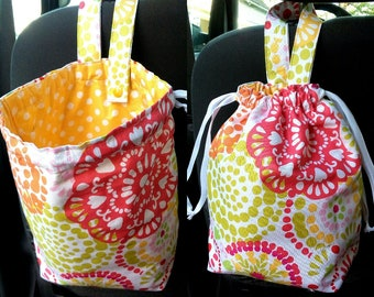 Car trash bag, Reusable, Waterproof, Ecofriendly garbage bag - Choose fabric option